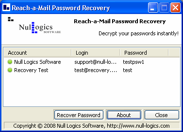 Null Logics The Bat! Password Recovery